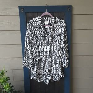 Kate spade black and white romper size M.